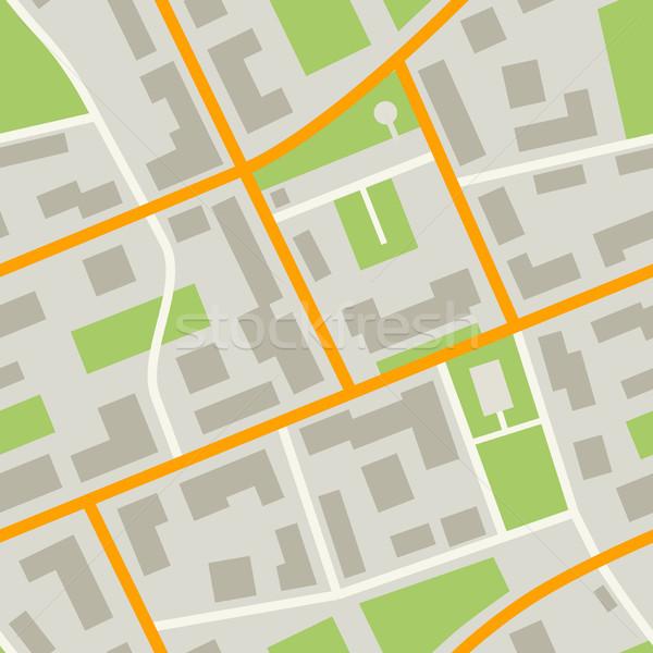 Città mappa pattern semplice illustrazione Foto d'archivio © biv
