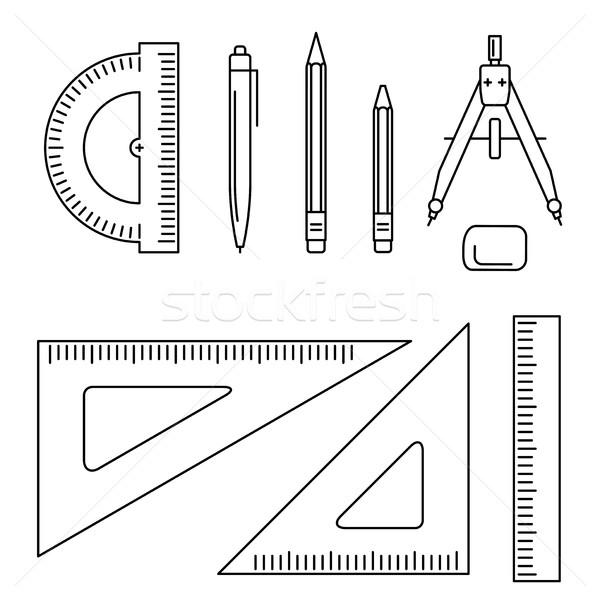 Vector drawing instrument. Stock photo © biv