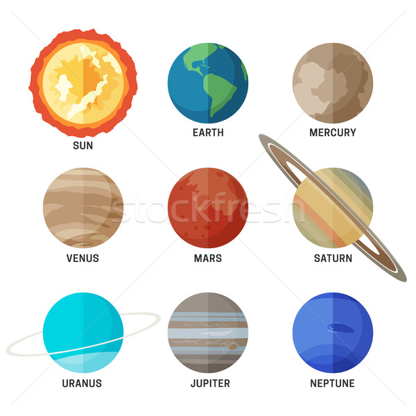 Planets of the solar system Stock photo © biv
