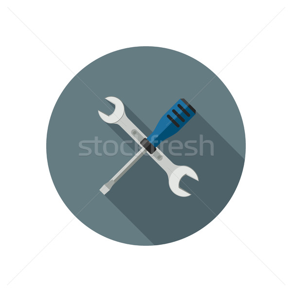 Spanner and screwdriver Stock photo © biv