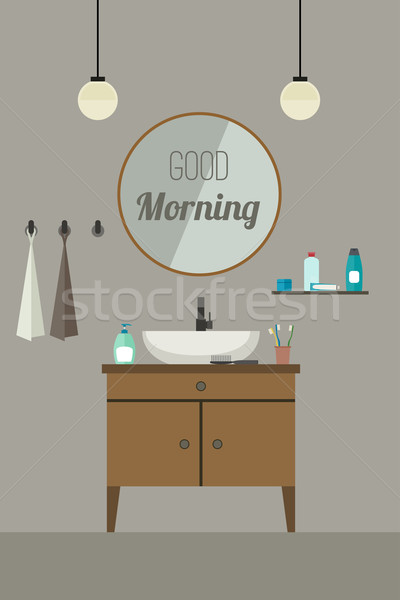 Banyo iç batmak örnek vektör afiş Stok fotoğraf © biv