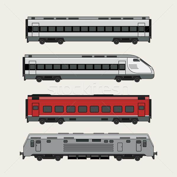 ストックフォト: 列車 · 白 · ビジネス · 道路 · デザイン