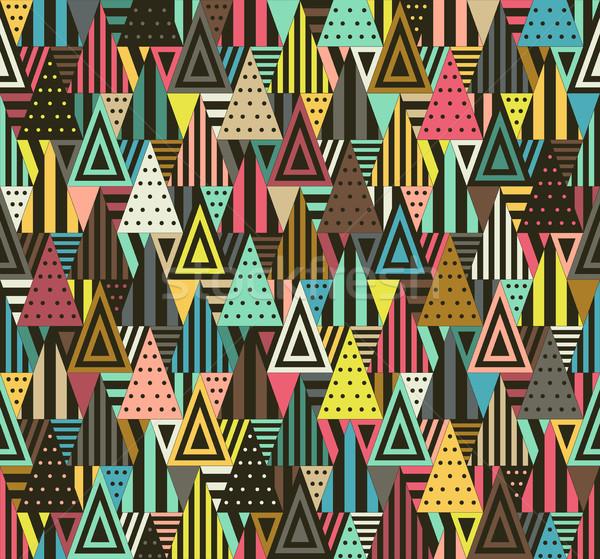 幾何学模様 色 黒 異なる ファッション ストックフォト © biv