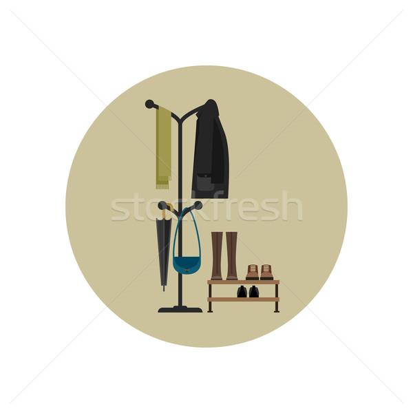 Mobilya salon stil koridor elbise Stok fotoğraf © biv