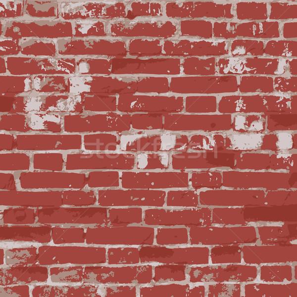 Pared de ladrillo textura realista construcción diseno fondo Foto stock © biv