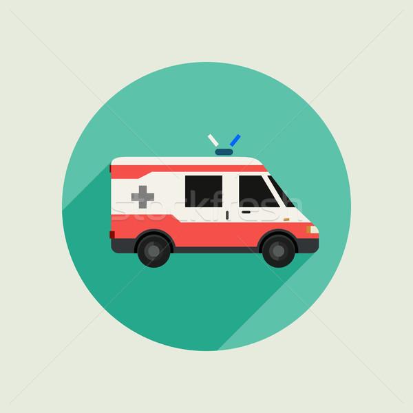 商业照片 / 矢量图: 救护车 · 向量 · 汽车 · 图标 · 风格
