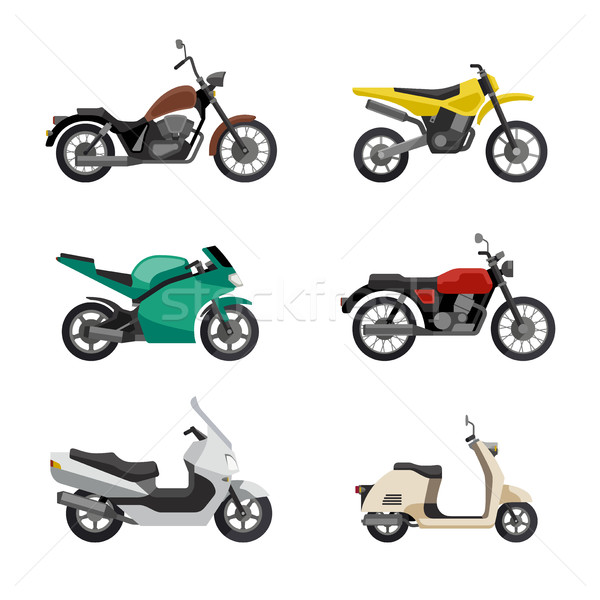 Motorcycles and scooters Stock photo © biv