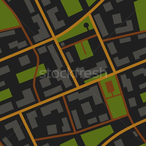 Città mappa notte view pattern Foto d'archivio © biv