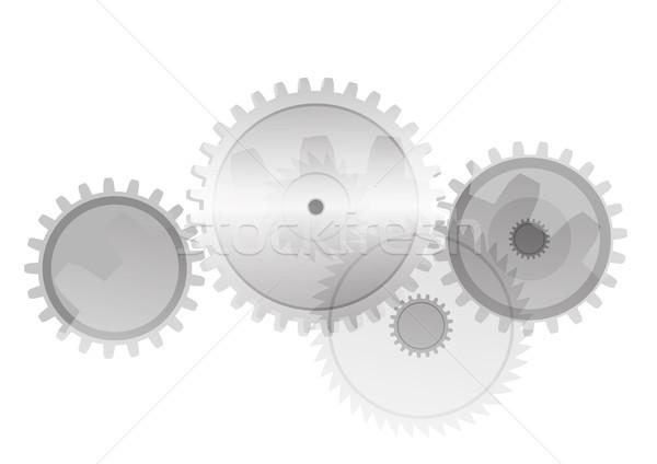 Dişliler biçim vektör teknoloji şablon grafik tasarım Stok fotoğraf © biv
