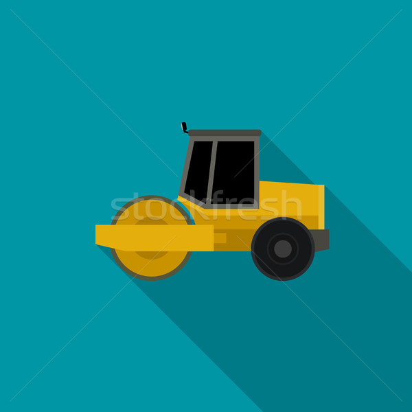 Asphalt compactor flat icon. Stock photo © biv