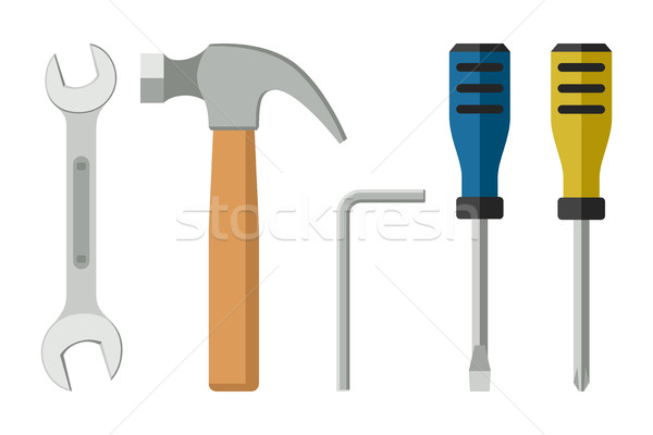 Tools flat icon Stock photo © biv