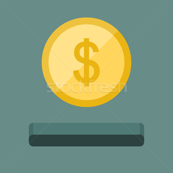 Coin icon and slot Stock photo © biv