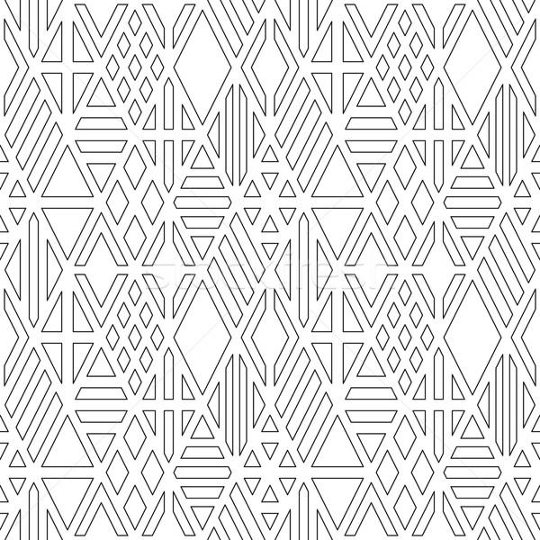 行 幾何学的な セット デザイン ストックフォト © biv