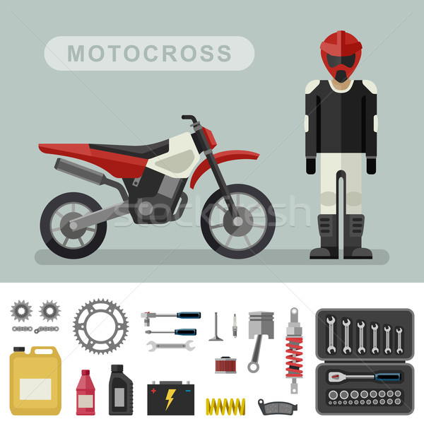Motoctoss bike with parts. Stock photo © biv