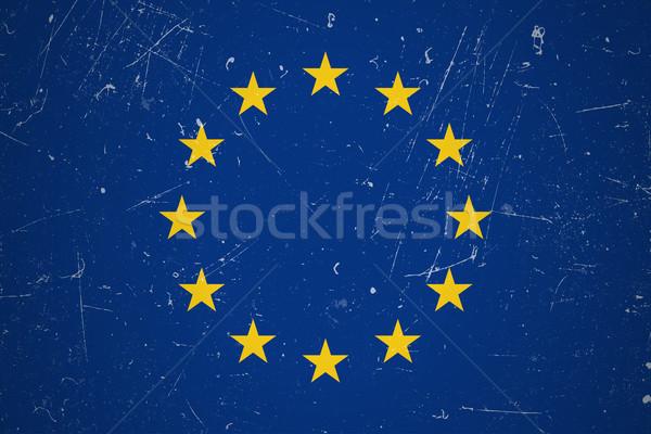 Grunge avrupa bayrak sendika dizayn mavi Stok fotoğraf © biv