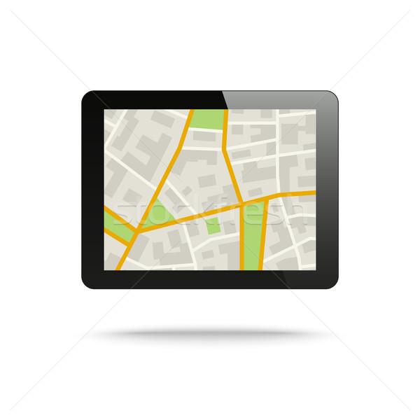 市 地図 場所 サービス コンピュータ ストックフォト © biv