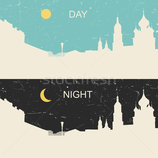 View of the heritage Russian city day and night Stock photo © biv