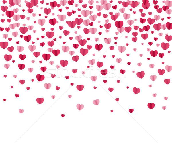 Konfeti kalpler beyaz vektör mutlu Stok fotoğraf © biv