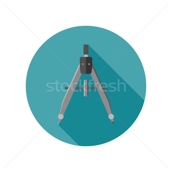 Icon stijl bouwkundig uitrusting kantoor ontwerp Stockfoto © biv