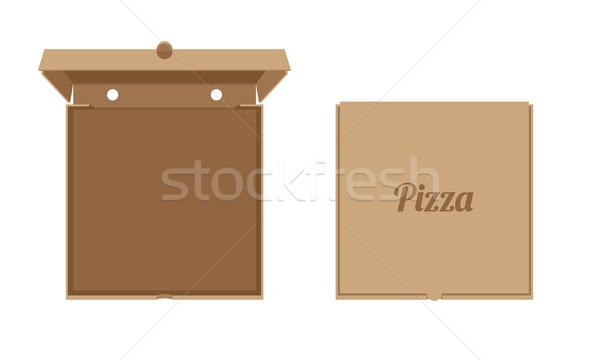 Stok fotoğraf: Pizza · kapalı · vektör · dizayn