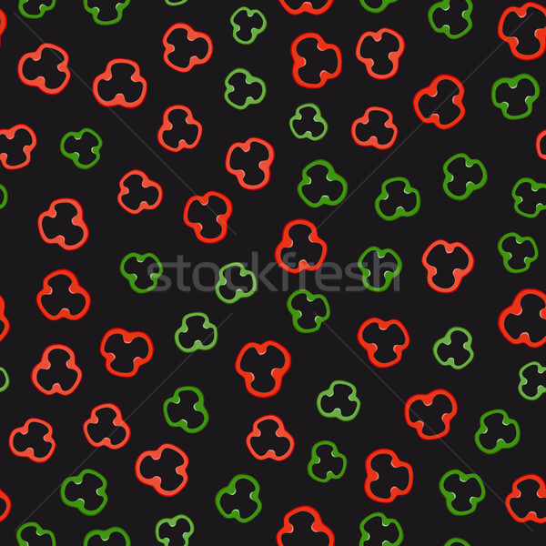 Stok fotoğraf: Biber · dilimleri · model · kırmızı · yeşil · siyah