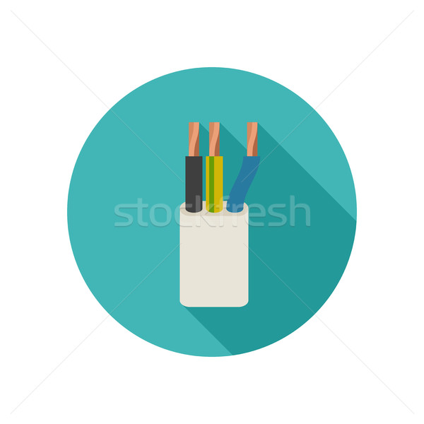 Electrical cable icon Stock photo © biv