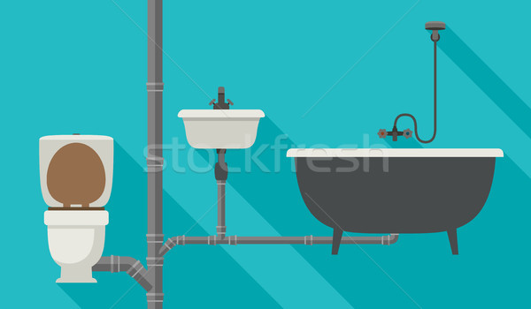 Engineering sewer system Stock photo © biv