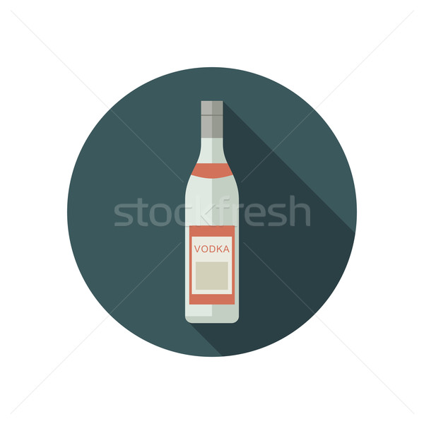 Vodka icon in flat style Stock photo © biv