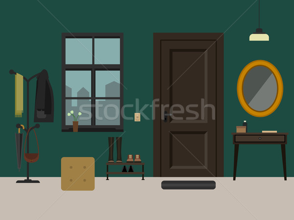 Hallway interior with furniture. Stock photo © biv