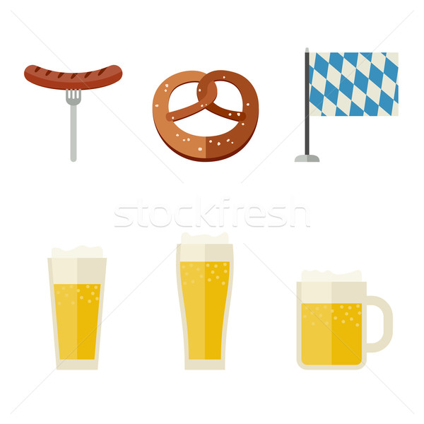 Beer icons set Stock photo © biv