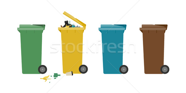 Stock photo: Garbage cans