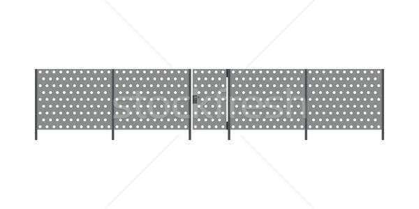 Metaal hek poort ontwerp tuin veiligheid Stockfoto © biv