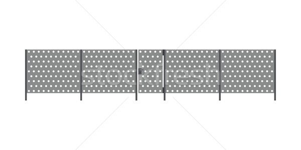 металл забор ворот дизайна саду безопасности Сток-фото © biv