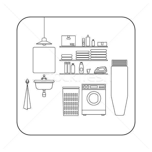 Laundry room line interior. Stock photo © biv