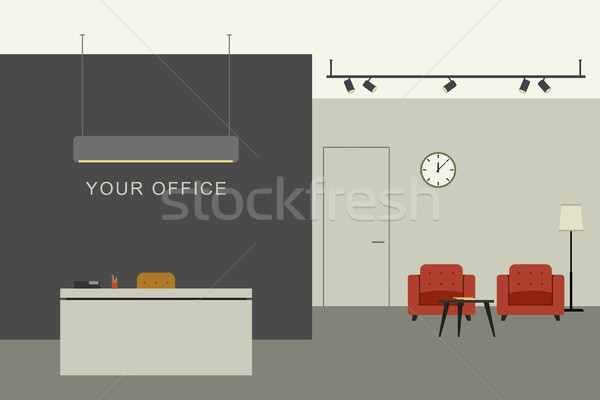 Office interior with reception Stock photo © biv
