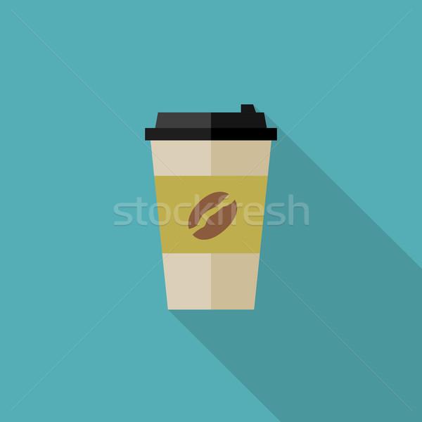 コーヒー 紙 カップ アイコン 実例 カフェ ストックフォト © biv