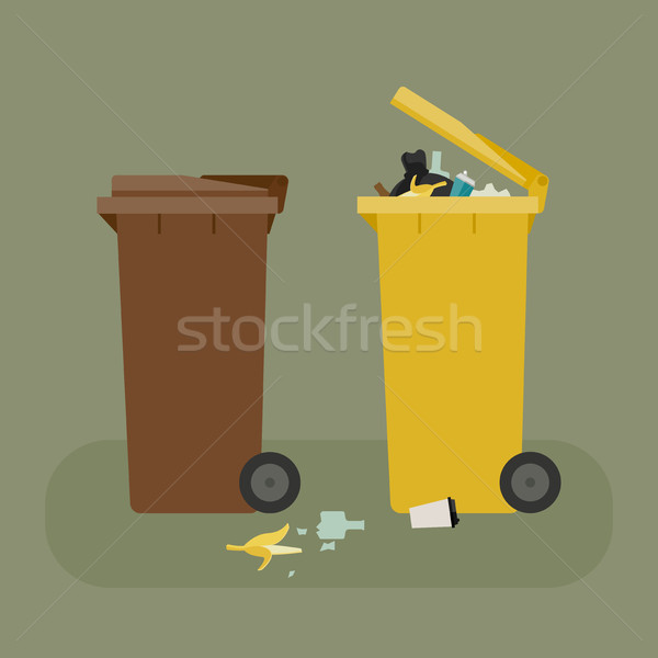 Dumpsters with garbage Stock photo © biv