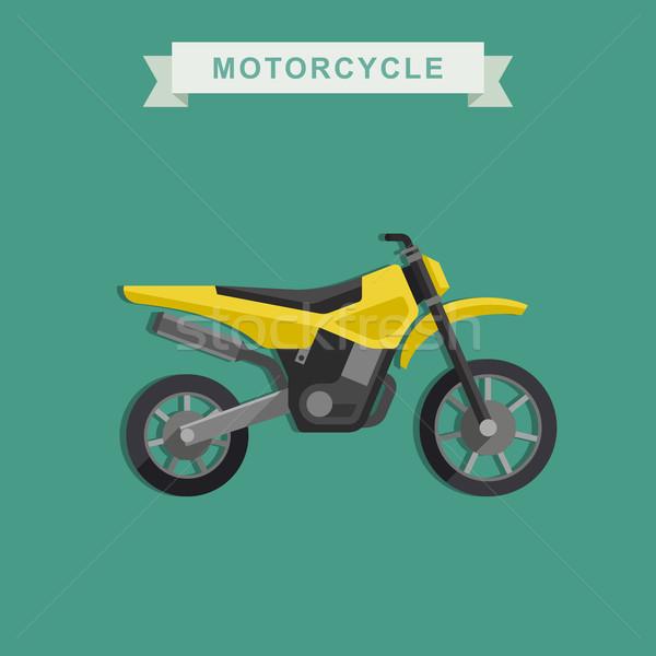 ベクトル 自転車 黄色 スポーツ にログイン 旅行 ストックフォト © biv