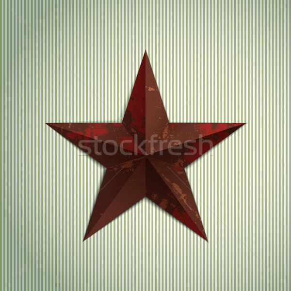 Grunge star militaire metaal Rood roestige Stockfoto © biv