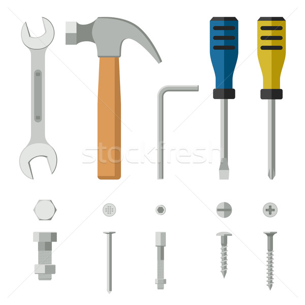 Construction tools and fixing. Stock photo © biv