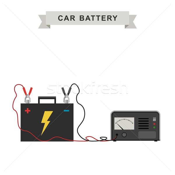 車 バッテリー 実例 ケーブル 技術 業界 ストックフォト © biv