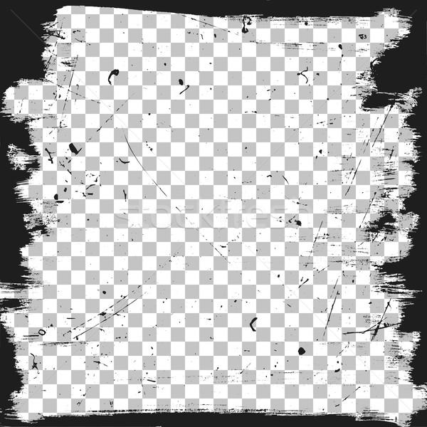 Grunge grens sjabloon textuur vector borstel Stockfoto © biv