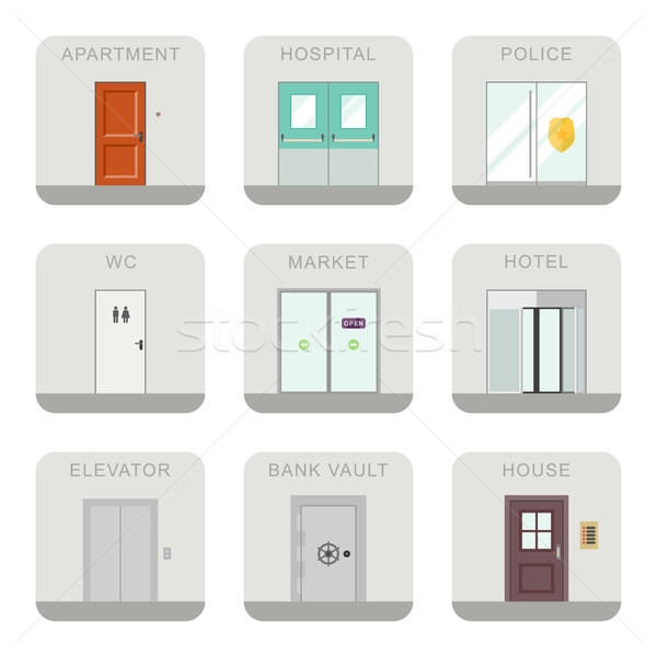 Set of doors icons. Stock photo © biv
