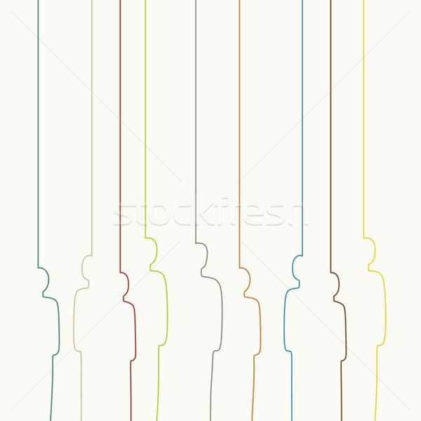 Color personas perfil resumen humanos Foto stock © biv