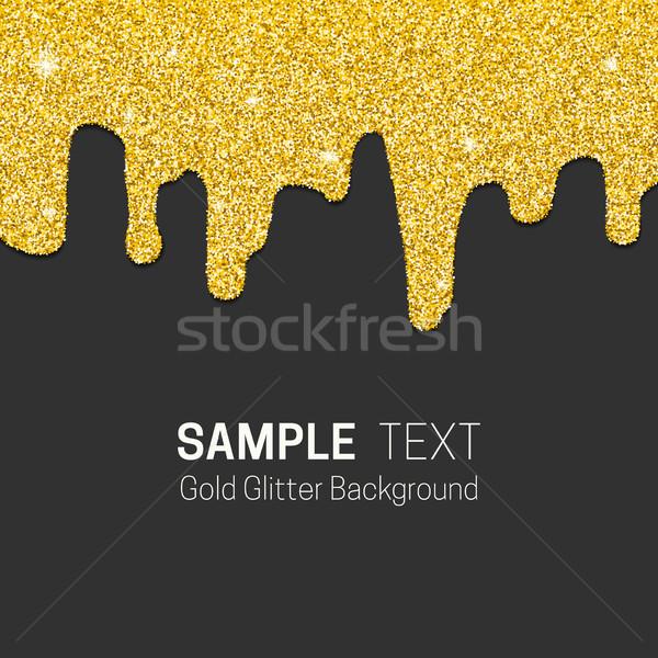 Dripping gold glitter Stock photo © biv