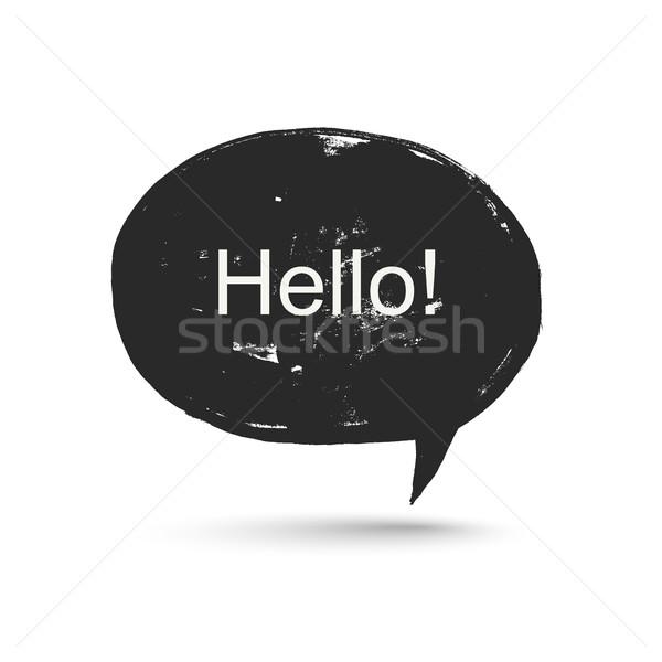 Grunge konuşmak kabarcık konuşmak arka plan iletişim Stok fotoğraf © biv