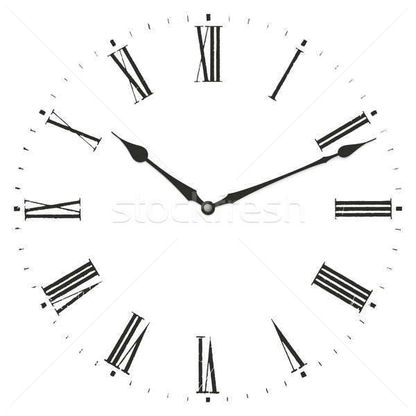 Stock photo: Roman numeral clock