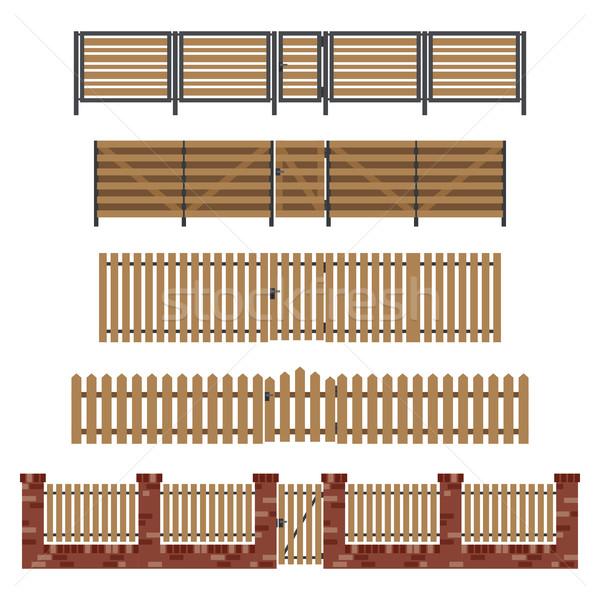 ストックフォト: 木製 · スタイル · 単純な · テクスチャ · 建物 · 木材
