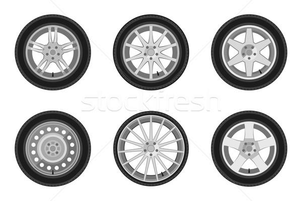 Stock photo: Auto wheels set.