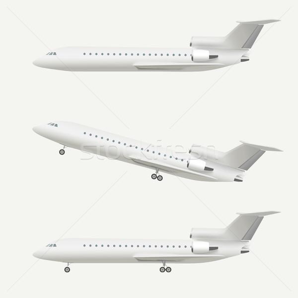 Avion isolé blanche réaliste Photo stock © biv